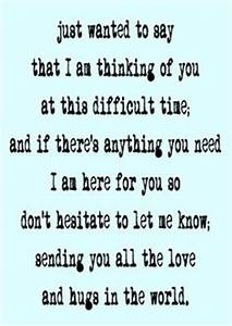 Thinking of You Quotes - Sympathy Quotes - Supportive ...