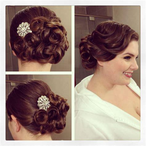 2020 Popular Pin Curls Wedding Hairstyles