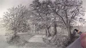 How to Draw with Charcoal Pencils-A Landscape Sketch