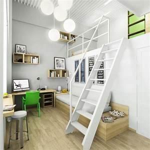 chambre de fille ado de design contemporain 25 idees cool With chambre ado fille mezzanine
