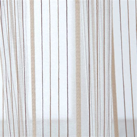 bedroom and living room beige sheer curtains with striped