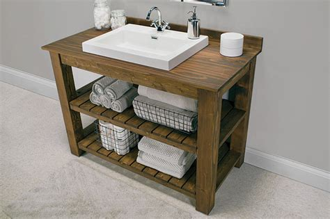 farmhouse powder room creative diy bathroom vanity projects the budget decorator