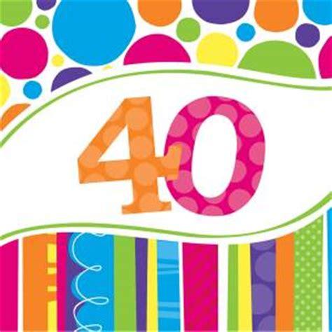 servietten 40 geburtstag bunte runde partygro 223 handel geburtstag