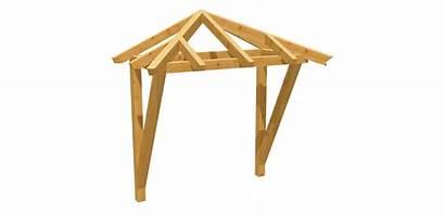 Vordach Holz Bauplan Walmdach Bauen Selber Eingangs