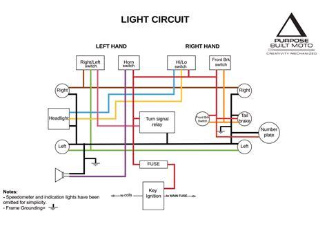motorcycle brake light wiring diagram diagram chart gallery