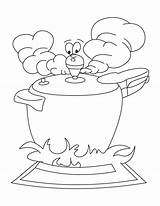 Cooker Pressure Coloring Pages Stove Getdrawings Student Mature sketch template