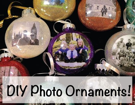 diy how to make christmas photo ornaments youtube