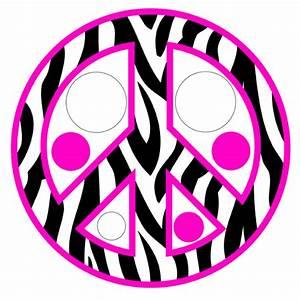 Pink Zebra Peace Sign - ClipArt Best