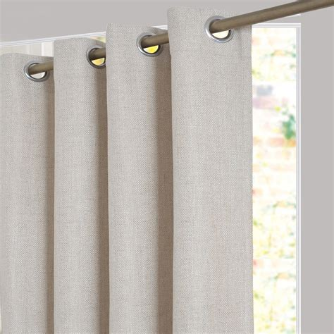 rideau tamisant tricot beige l 140 x h 250 cm inspire leroy merlin