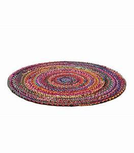 tapis rond jute et coton With tapis rond design