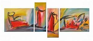 Toile Peinture Pas Cher : tableau abstrait pas cher ~ Mglfilm.com Idées de Décoration