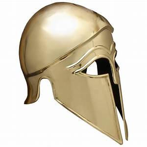 Brass Italo Corinthian Greek Helmet - 18 Gauge Brass