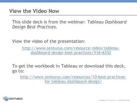 tableau dashboard design best practices