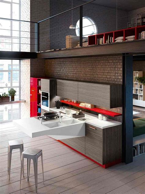 cuisine ouverte salon petit espace deco cuisine moderne petit espace
