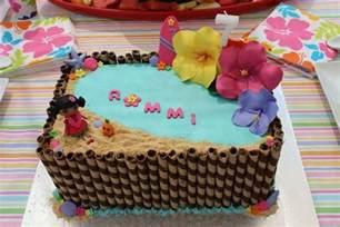 Hawaiian Party Birthday Cake Ideas