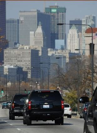 Services Chicago by A Barack Obama Secret Service Motorcade In Chicago