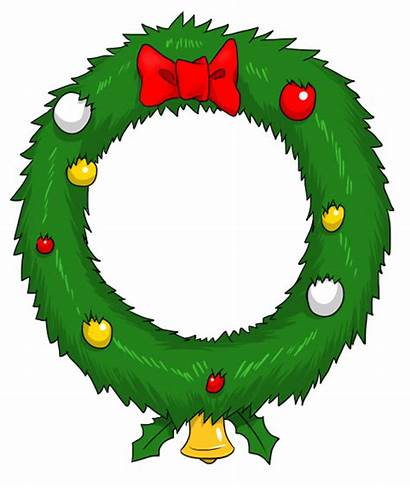 Wreath Christmas Clip Clipart Reef Wreaths Animated