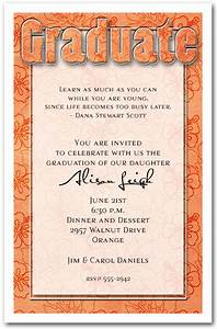 birthday party ribbons orange hibiscus print graduation party invitation