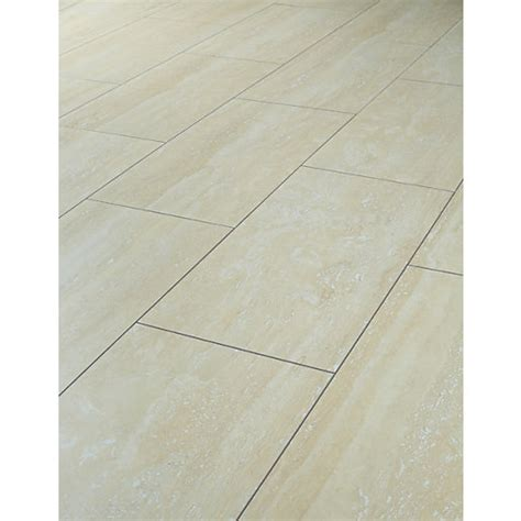 Wickes Travertine Tile Effect Laminate Flooring  Wickescouk