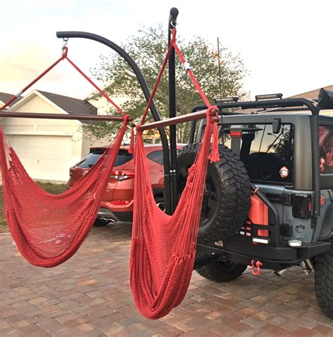 Trailer Hitch Stand Hammock Chair Combo by Dual Trailer Hitch Stand Jumbo Hammock Chair Combo