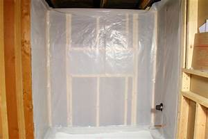 installing the vapor barrier for the bathroom shower With vapor barrier in bathroom