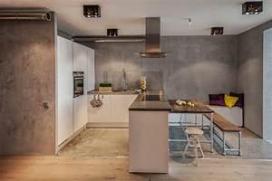Graue Möbel Welche Wandfarbe : farbe in der k che 30 ideen f r wandfarben und fronten ~ Markanthonyermac.com Haus und Dekorationen