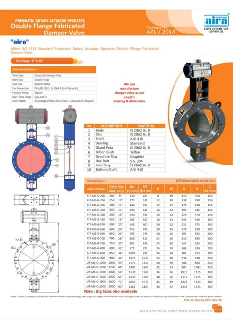 manufacturer exporter of pneumatic butterfly valves