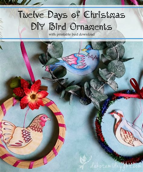 twelve days of christmas diy bird ornament free download