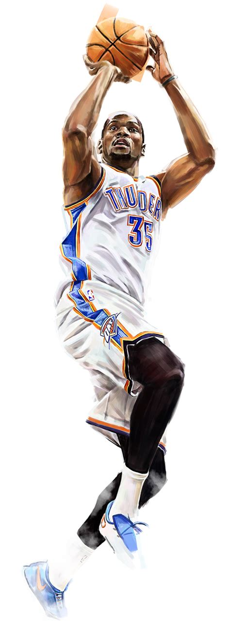 kevin durant fan page artist robert bruno pays homage to oklahoma city thunder