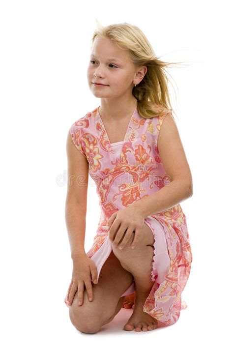 Preteen Posing In A Dress Stock Image Image Of Close