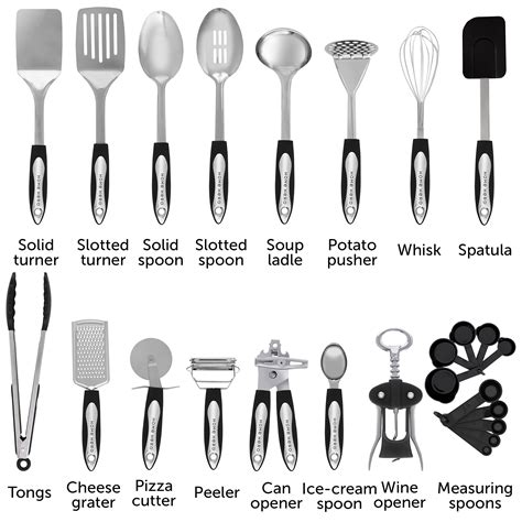 utensils cooking tool kitchen utensil cookware spatula gadgets stainless steel nonstick gift homehero hero piece amazon