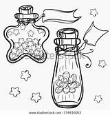 Coloring Potion Bottle Bottles Glass Template Adults sketch template
