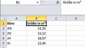 Quadratzahlen Berechnen : quadratzahlen oder quadratma e in excel zellen eingeben ~ Themetempest.com Abrechnung