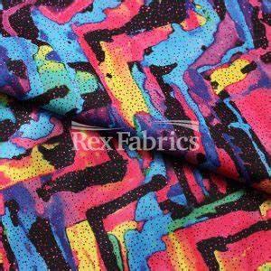 Neon Tie Dye Poly Spandex Tricot