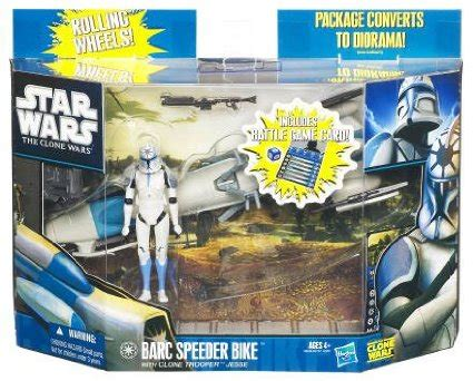 Wars Trooper Vehicles by Wars Clone Trooper With Barc Speeder Vehicle Figure Pack
