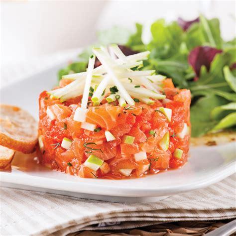 tartare cuisine tartare de saumon pomme et érable recettes cuisine et