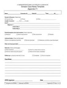 Sample Case Notes Template