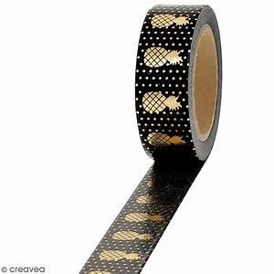 Masking Tape Doré : masking tape foil ananas dor sur fond noir 1 5 cm x 10 m masking tape motif creavea ~ Teatrodelosmanantiales.com Idées de Décoration