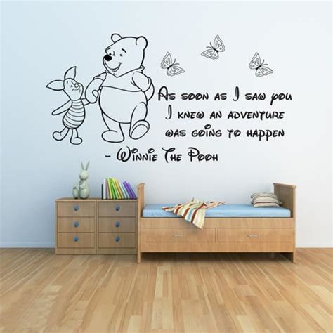 stickers chambre bébé ourson winnie l 39 ourson stickers muraux 3 bébé stickers muraux