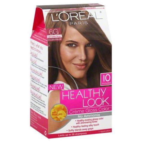 6g hair color l oreal healthy look 6g light golden brown no ammonia hair