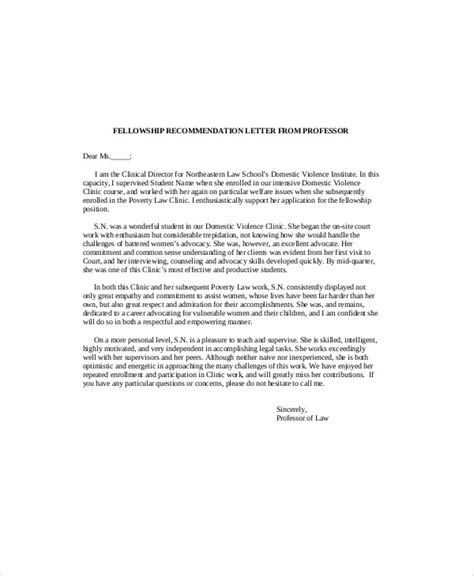 sample recommendation letter  professor  examples