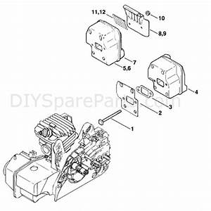 Stihl Ms 250 Chainsaw  Ms250  Parts Diagram  Muffler
