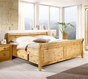 Bett 200x200 Weiß Holz : bett 200x200 2 schubladen kiefer massiv gelaugt ge lt ~ Bigdaddyawards.com Haus und Dekorationen