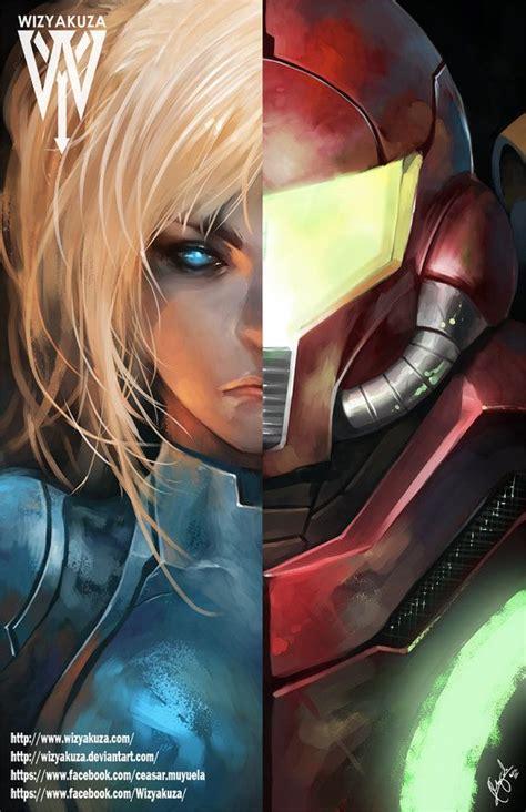 Samus Aran Split Metroid Et Super Smash Brothers 11 X