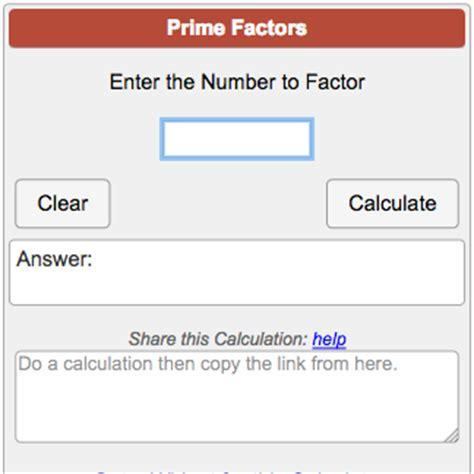 prime factorization calculator