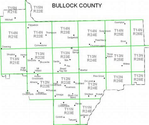 Property Ownership Maps of Bullock County, 1936