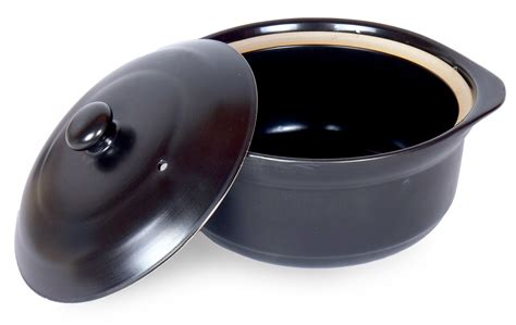 clay pot ceramic cookware spiceberry oven quart amazon flameproof cocotte stovetop liter japanese porcelain donabe grenadine staub round kitchen qt