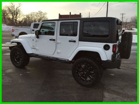 white jeep sahara lifted 2013 jeep wrangler unlimited sahara white 4 quot lift black