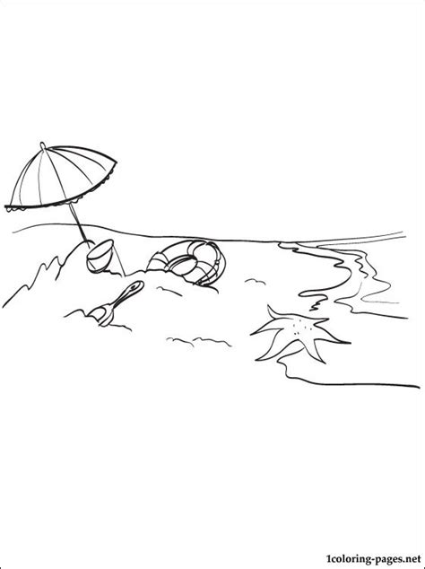 sea beach coloring page coloring pages