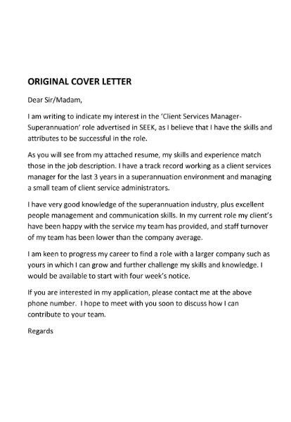 cover letter expression  interest sample cover letter